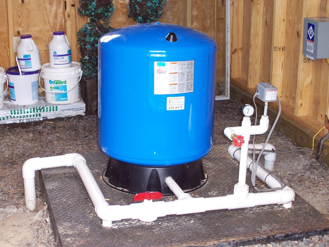 Water Tank Installation : Well system pressure tank water filters free engine